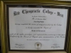 Doctorate diploma in Chiropractic